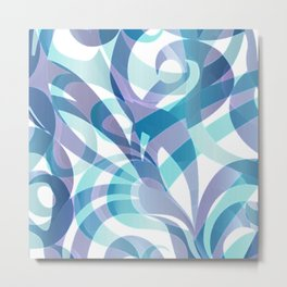 Floral abstract background G21 Metal Print