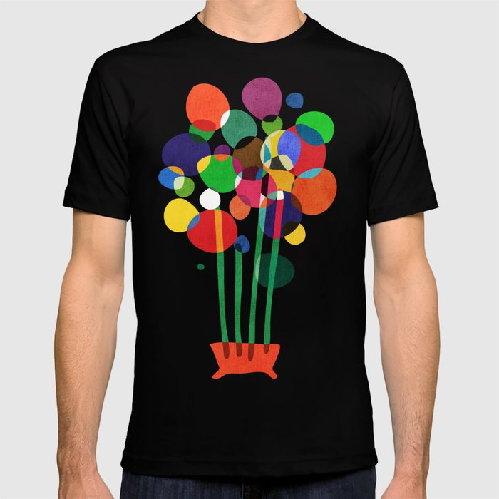 Happy flowers in the vase T-shirt