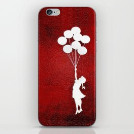 Banksy the balloons Girls silhouette iPhone Skin