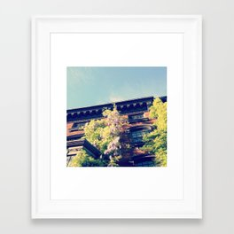 Sunny Brownstone Framed Art Print