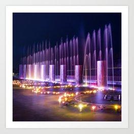 Branson Landing Fountains - Square Edition Art Print