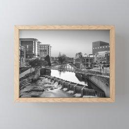 Black and White of Downtown Greenville Framed Mini Art Print