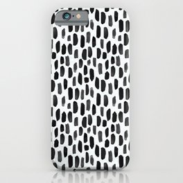 Black and White Dotty Pattern iPhone Case