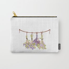 Herbs in Pastel Color Pink Bouquet Carry-All Pouch