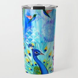 Aqua collage Travel Mug