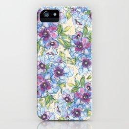 Big Blue Poppies iPhone Case