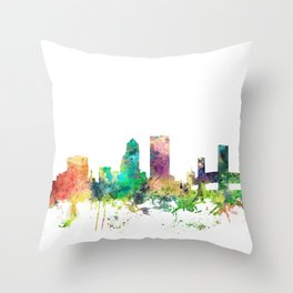 Jacksonville, Florida skyline SP Throw Pillow