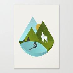 The Mermaid and the Centaur Canvas Print