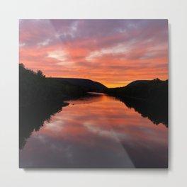 Sunset at the Delaware Water Gap Metal Print