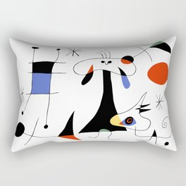Joan Miro The Sun (El Sol) 1949 Painting Artwork For Prints Posters Tshirts Bags Women Men Kids Rectangular Pillow