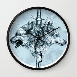 Dire Wolf Wall Clock