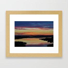 Sunset Marsh Framed Art Print