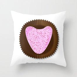 Chocolate Box Heart Throw Pillow
