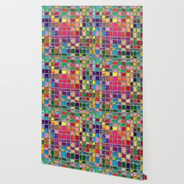 Stained Glass Window Multicolour Pattern Wallpaper