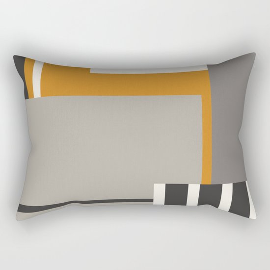 PLUGGED INTO LIFE (abstract geometric) Rectangular Pillow