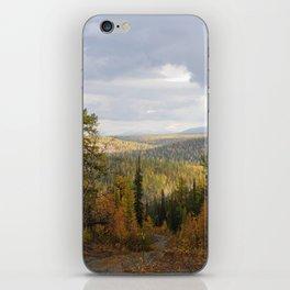 Landscape of sub-polar ural mountains iPhone Skin