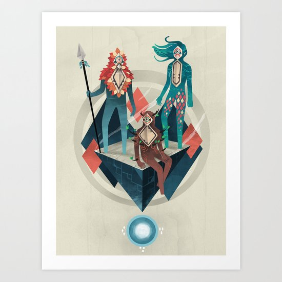 The Guardians Art Print