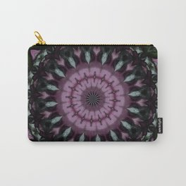 Rose And Jade Geometric Mandala Pattern Carry-All Pouch