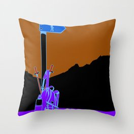 Day Hike Throw Pillow