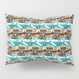 Tallinn Summer Retro Pillow Sham