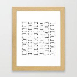 Square Brackets Framed Art Print