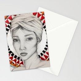 ethnic beauty Stationery Cards