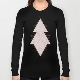 BLUSH COPPER ROSE GOLD GEOMETRIC SYNDROME Long Sleeve T-shirt