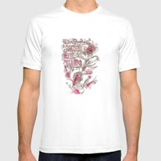 Egon Bondy's Happy Hearts Club Banned Mens Fitted Tee White MEDIUM