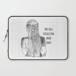 Not in a socializing mood Laptop Sleeve