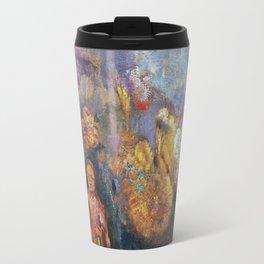 Odilon Redon - Buddah And Flowers Travel Mug