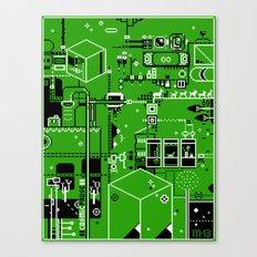 Cosmic Pause - pixel art Canvas Print
