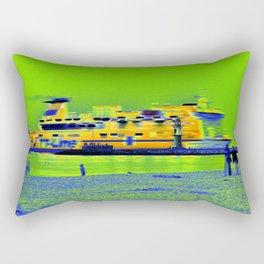 """GHOSTSHIP - Baltic Sea - """"VACANCY zine"""" Rectangular Pillow"""