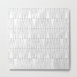 White Marble under White Triangles Metal Print