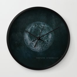 THE ETERNAL CHILD MOON SQUARE PRINT Wall Clock