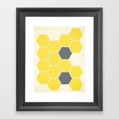 Yellow Honeycomb Framed Art Print