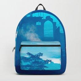 Blue Desert 3D Oasis Backpack