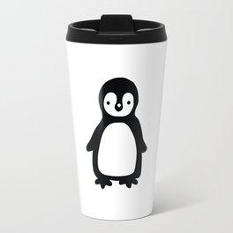 Simple black and white pinguin Travel Mug