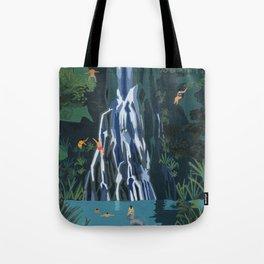 Waterfall stop Tote Bag