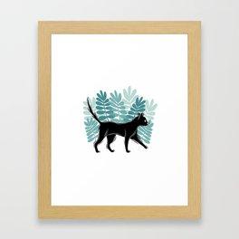Forest kitty Framed Art Print