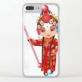 Beijing Opera Character YangPaiFeng Clear iPhone Case