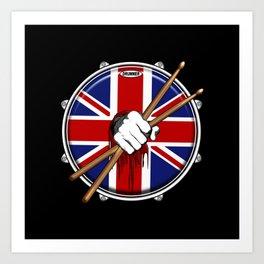 Brit Fist Drummer Art Print