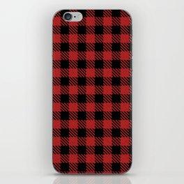 Fire Brick  Bison Plaid iPhone Skin