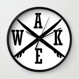Wake for wakeboarder and wake surfer Wall Clock