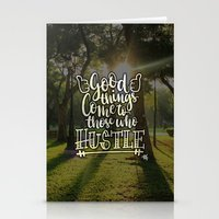 hustle Stationery Cards featuring Hustle! by Art4Anj