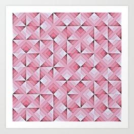 Pink Geo Pattern Art Print