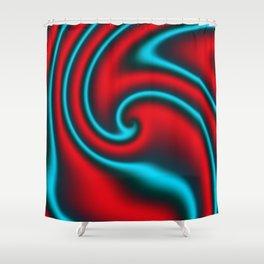 Fire Mint Ribbon Candy Fractal Shower Curtain