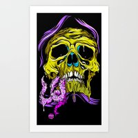 gore Art Prints featuring SKULL-GORE by scarecrowoven