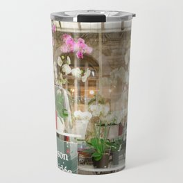 Paris Flower Shop Window Travel Mug