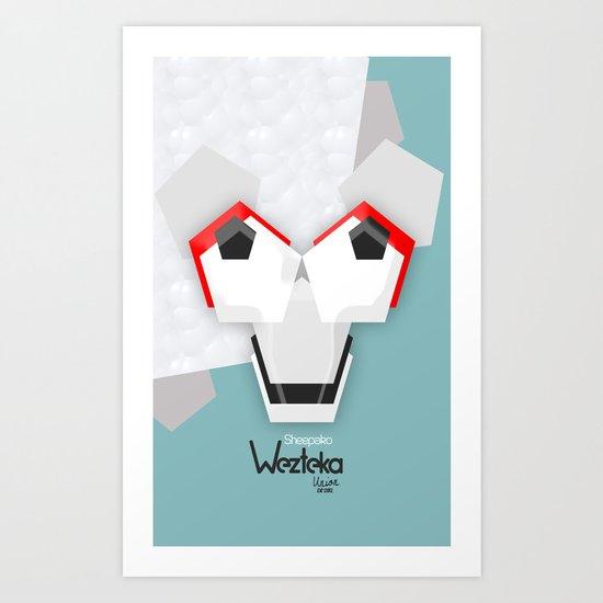 Sheepako  Art Print