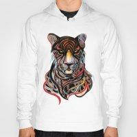 tiger Hoodies featuring Tiger by Felicia Atanasiu